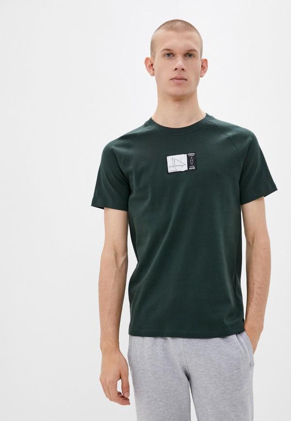 мужская футболка с коротким рукавом jack & jones, зеленая