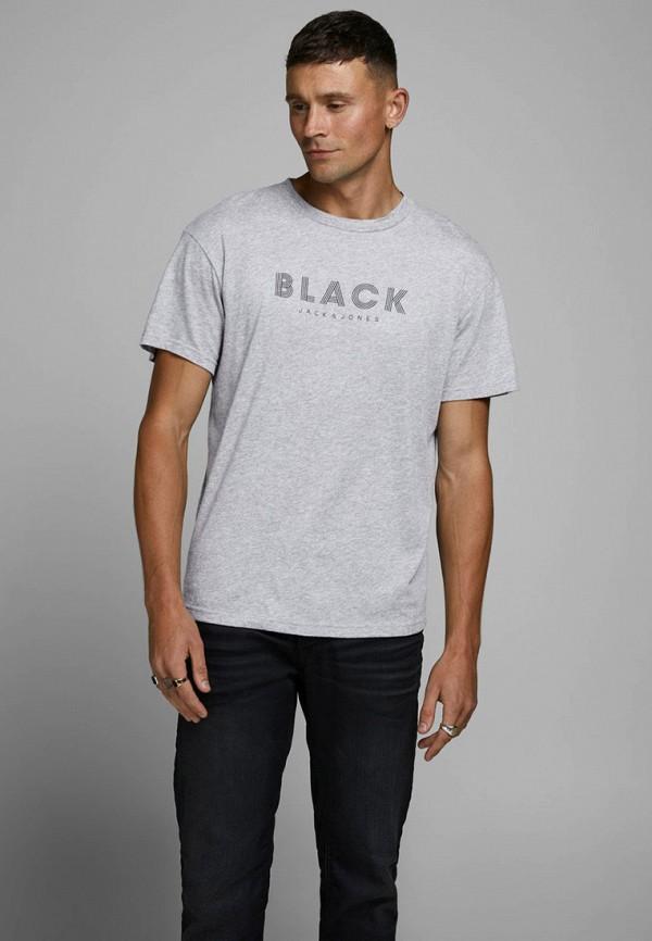 мужская футболка с коротким рукавом jack & jones, серая