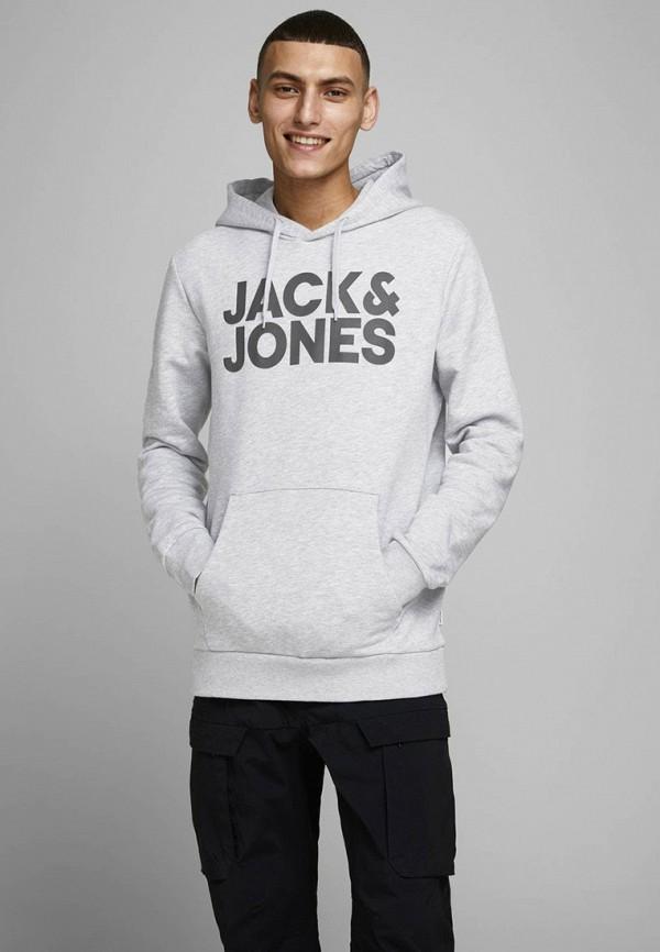мужские худи jack & jones, серые