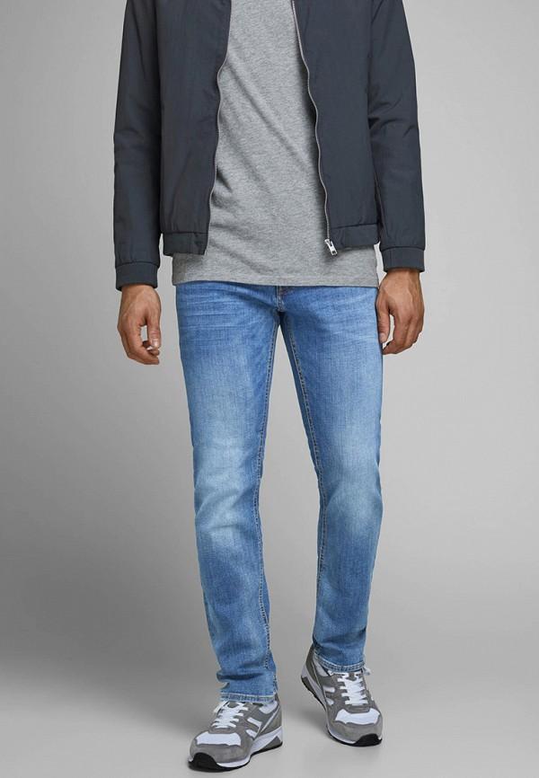 мужские зауженные джинсы jack & jones, синие
