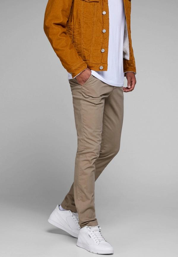 мужские брюки чинос jack & jones, бежевые