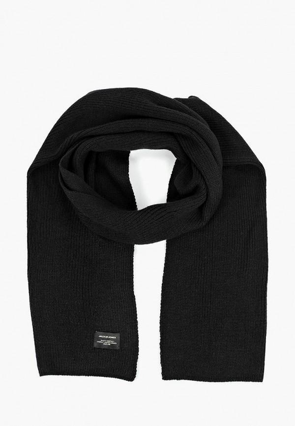 мужской шарф jack & jones, черный