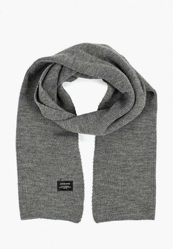 мужской шарф jack & jones, серый