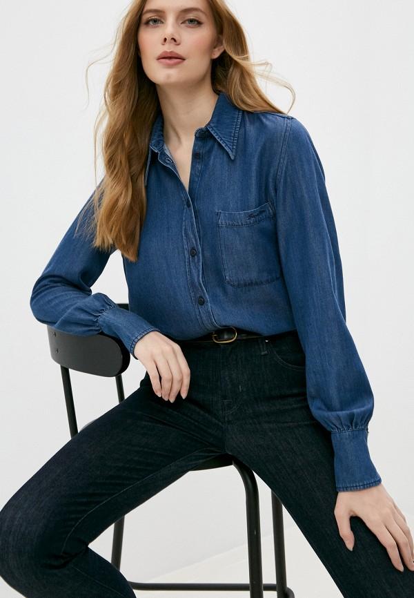 женская джинсовые рубашка jacob cohen, синяя