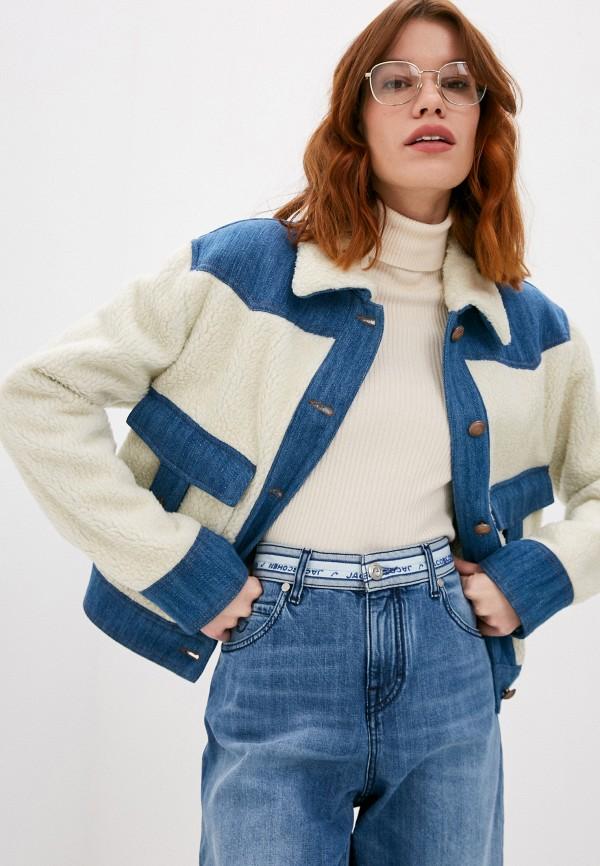 женская джинсовые куртка jacob cohen, разноцветная
