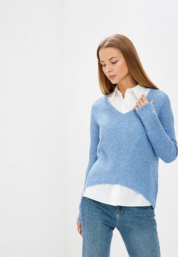женский пуловер jacqueline de yong, голубой