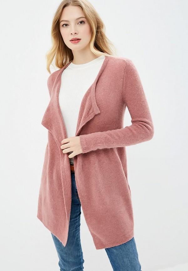 Кардиган  розовый цвета