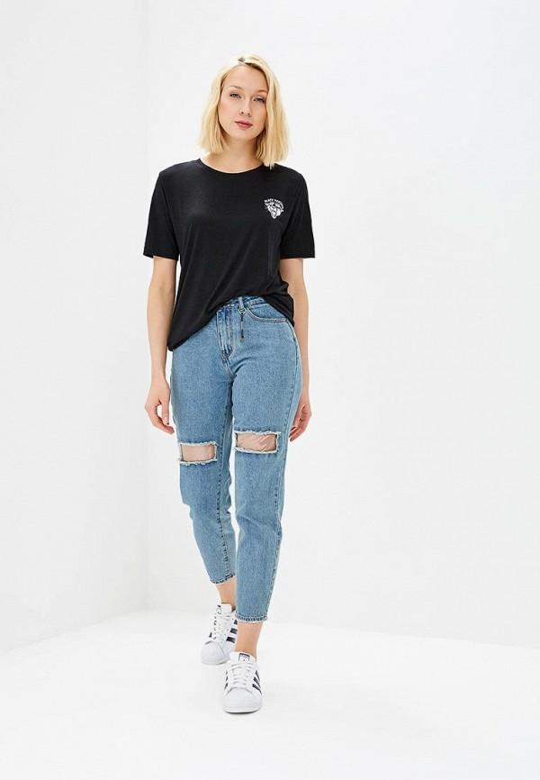 Фото 2 - женскую футболку Jacqueline de Yong черного цвета