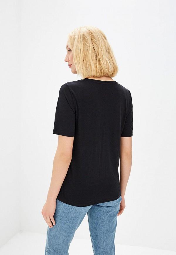 Фото 3 - женскую футболку Jacqueline de Yong черного цвета
