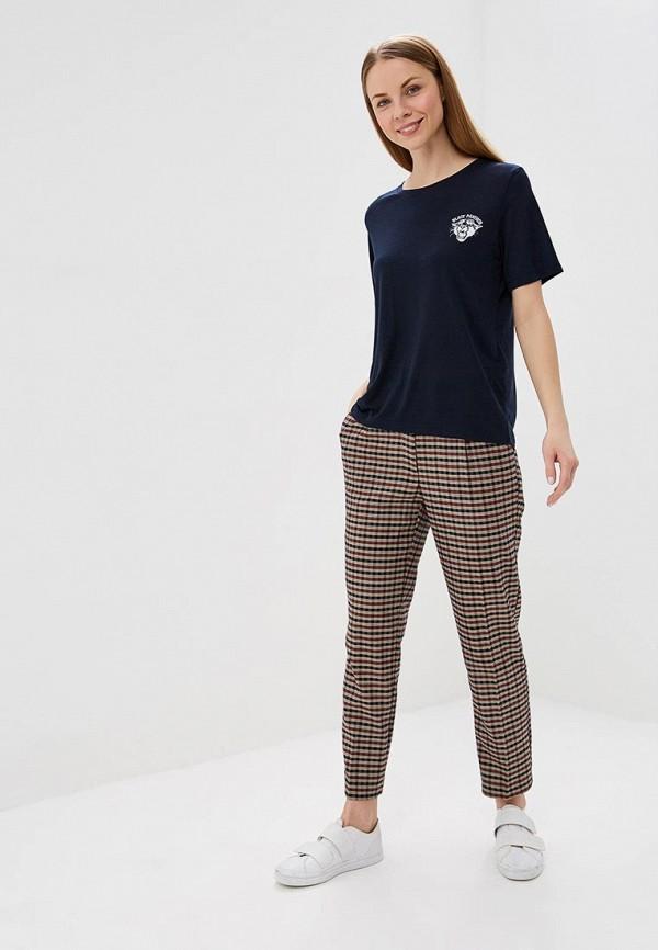 Фото 2 - женскую футболку Jacqueline de Yong синего цвета