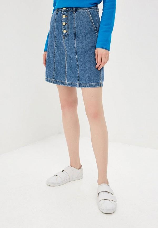 женская джинсовые юбка jacqueline de yong, синяя