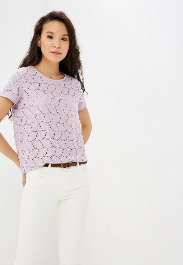 женская футболка jacqueline de yong, фиолетовая
