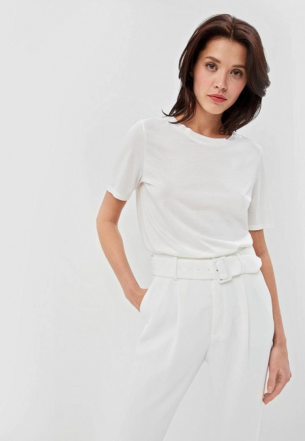 женская футболка jacqueline de yong, белая