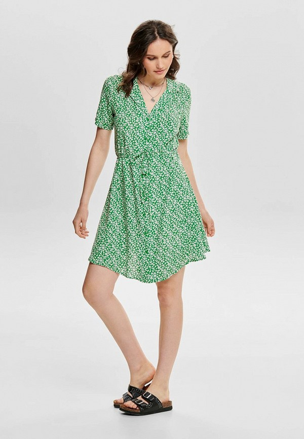 женское повседневные платье jacqueline de yong, зеленое