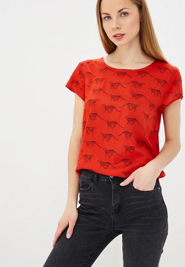 женская блузка jacqueline de yong, красная
