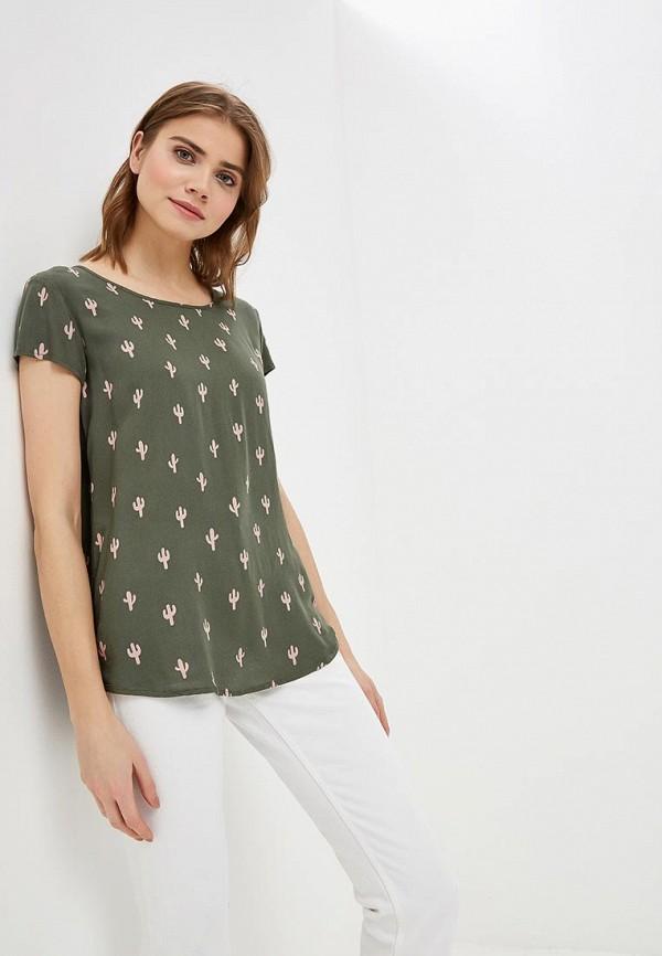 женская блузка jacqueline de yong, зеленая