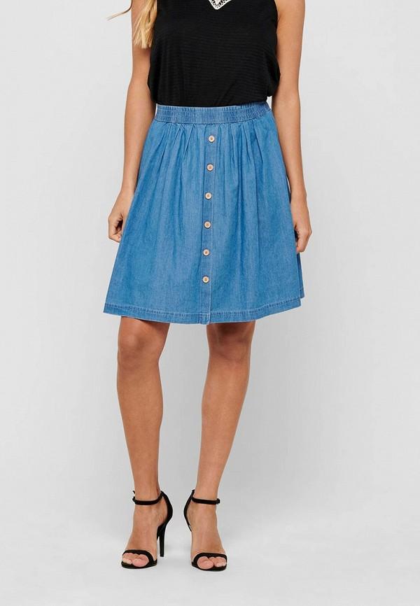 женская юбка jacqueline de yong, голубая