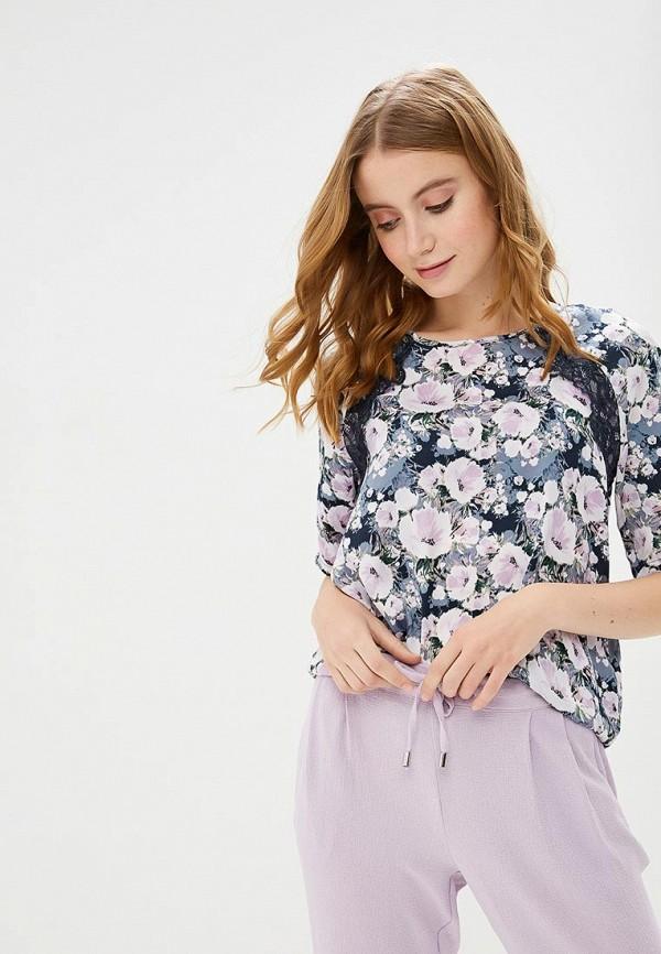 Блуза Jacqueline de Yong, ja908ewemou2, фиолетовый, Весна-лето 2019  - купить со скидкой