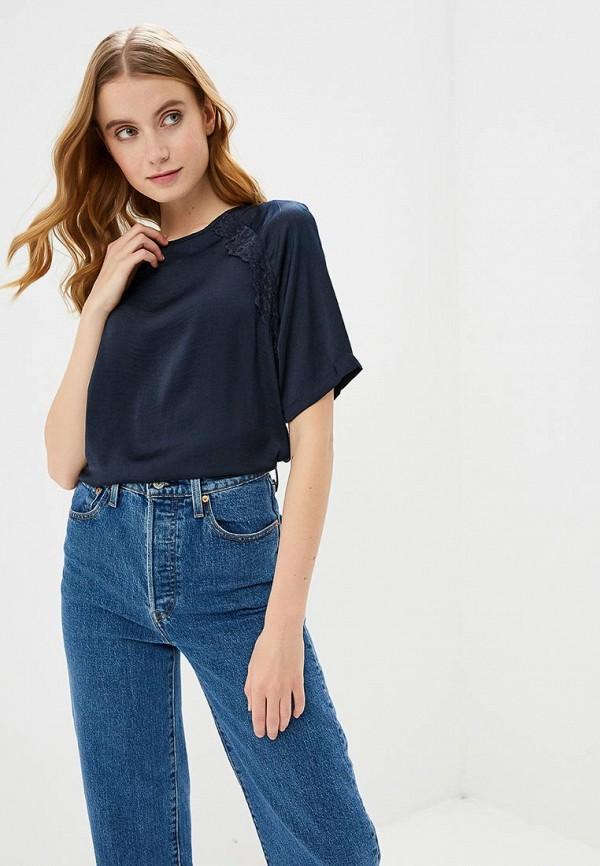 Блуза Jacqueline de Yong, ja908ewemou3, синий, Весна-лето 2019  - купить со скидкой