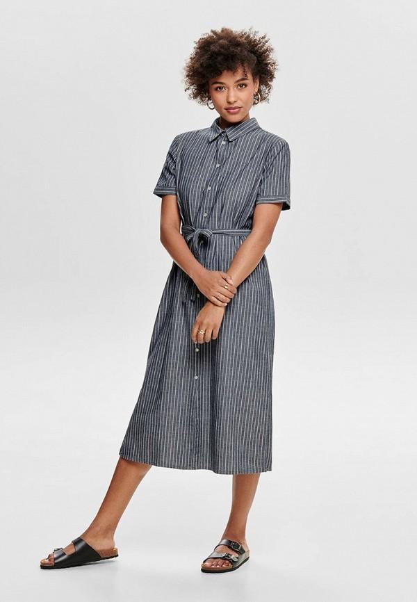 женское платье jacqueline de yong, синее