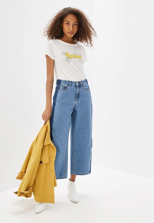 Фото 2 - женскую футболку Jacqueline de Yong белого цвета