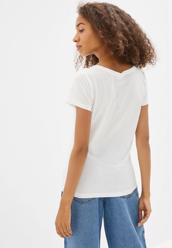 Фото 3 - женскую футболку Jacqueline de Yong белого цвета
