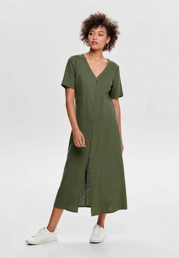 женское повседневные платье jacqueline de yong, хаки