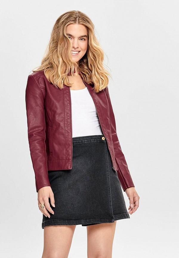 женская куртка jacqueline de yong, бордовая
