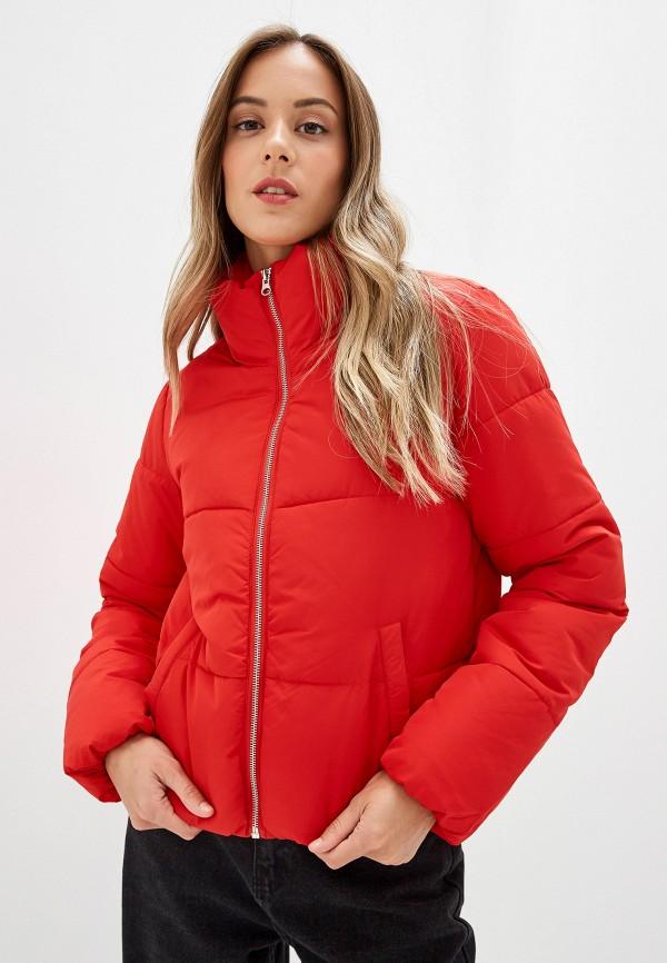 женская куртка jacqueline de yong, красная