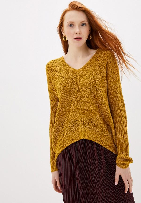 женский пуловер jacqueline de yong, желтый