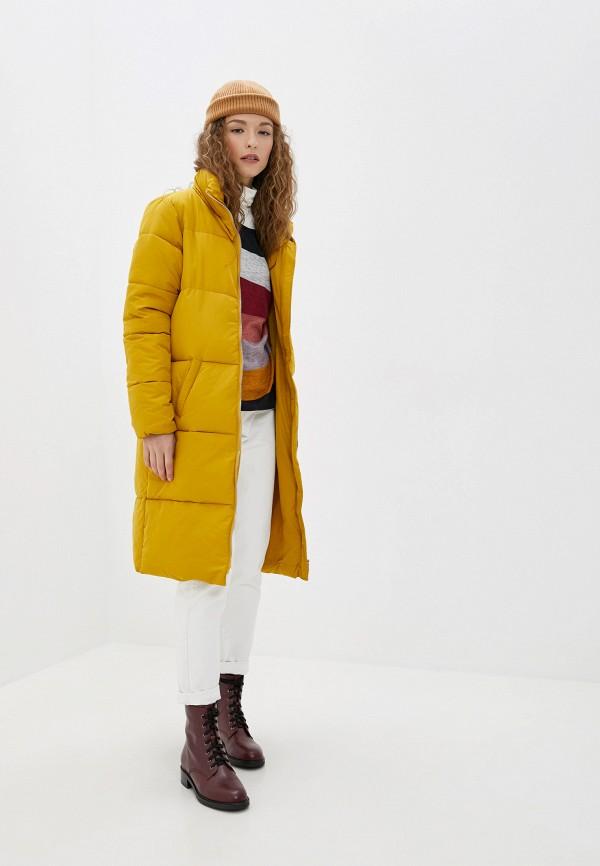 Фото 2 - Куртку утепленная Jacqueline de Yong желтого цвета