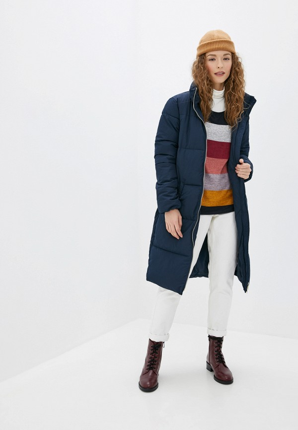 Фото 2 - Куртку утепленная Jacqueline de Yong синего цвета