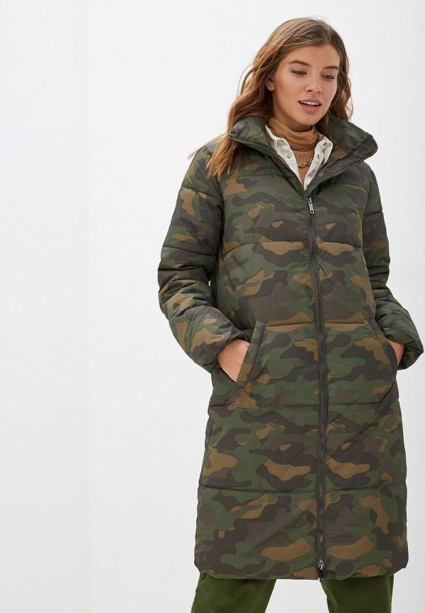 женская утепленные куртка jacqueline de yong, хаки