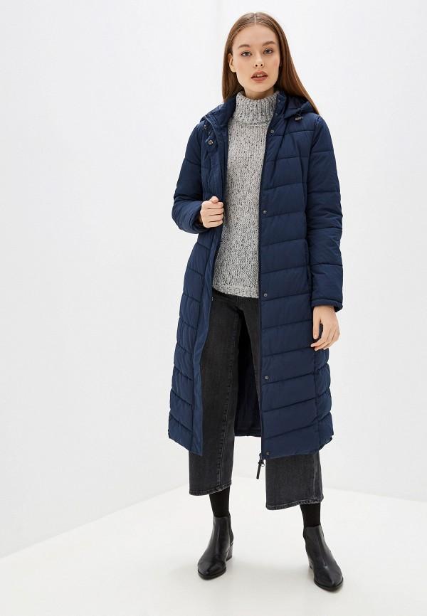 женская утепленные куртка jacqueline de yong, синяя