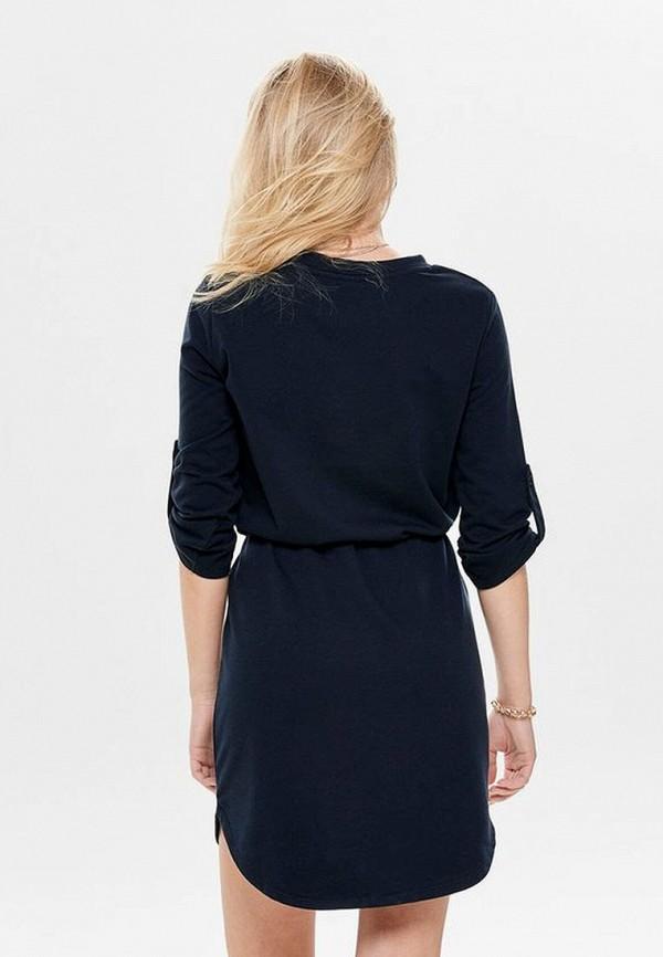 Фото 3 - женское платье Jacqueline de Yong синего цвета