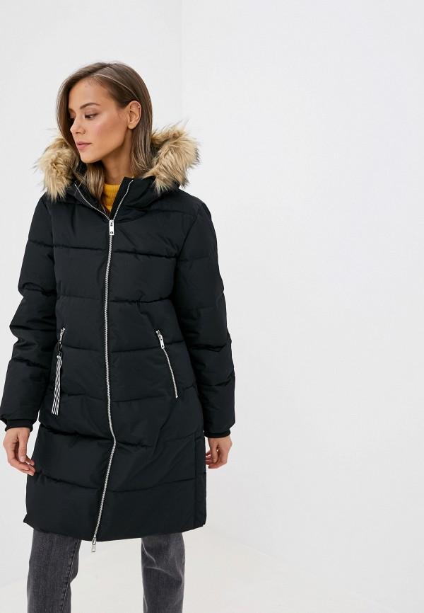 женская утепленные куртка jacqueline de yong, черная