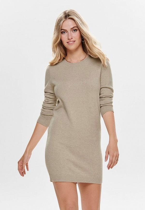 женское повседневные платье jacqueline de yong, бежевое