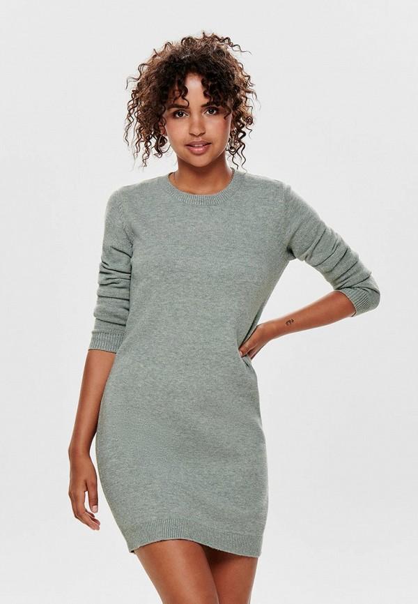 женское повседневные платье jacqueline de yong, серое