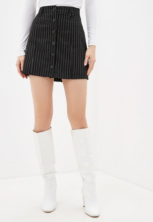 женская прямые юбка jacqueline de yong, черная