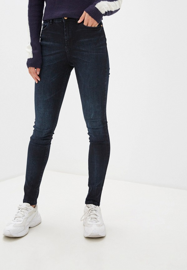 женские джинсы скинни jacqueline de yong, синие