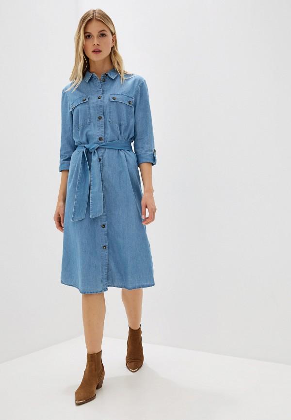 Платье джинсовое Jacqueline de Yong Jacqueline de Yong JA908EWFVPQ0