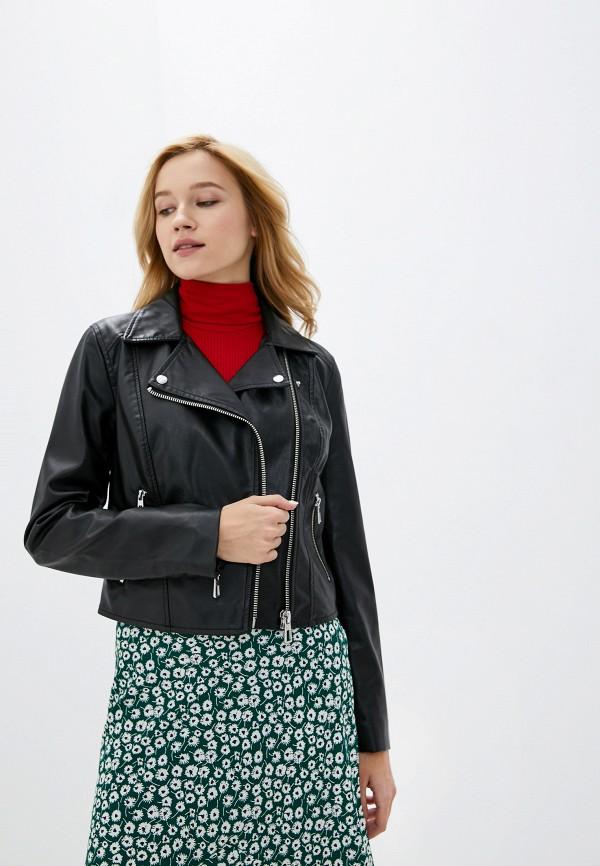 женская куртка косухи jacqueline de yong, черная