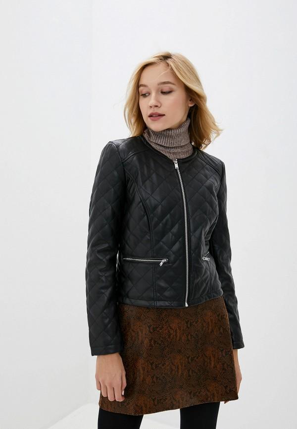 женская кожаные куртка jacqueline de yong, черная