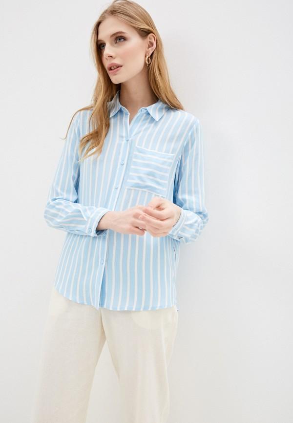 женская блузка с длинным рукавом jacqueline de yong, голубая
