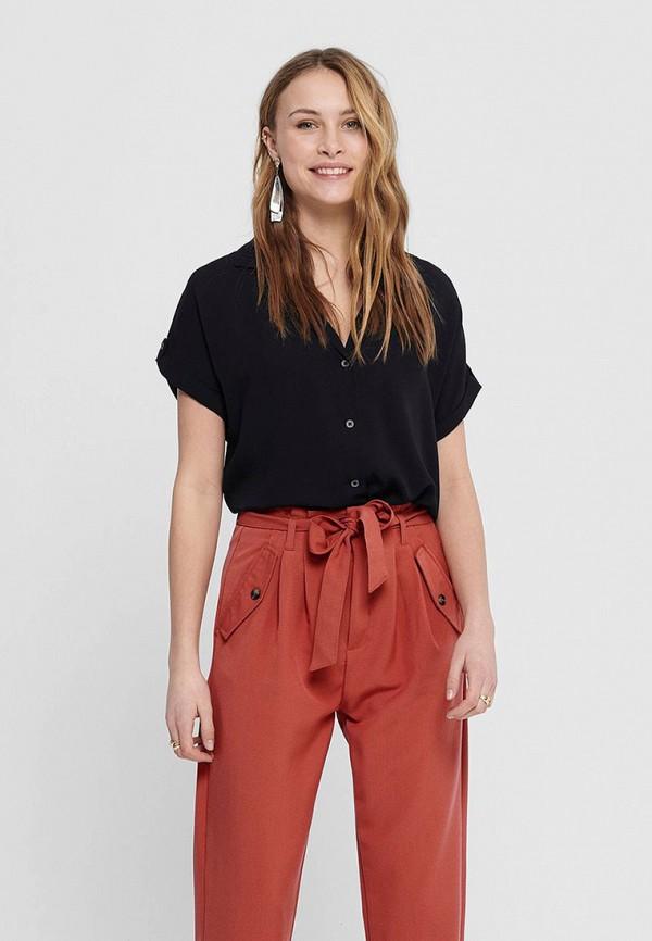женская блузка с коротким рукавом jacqueline de yong, черная