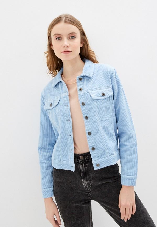 женская куртка jacqueline de yong, голубая