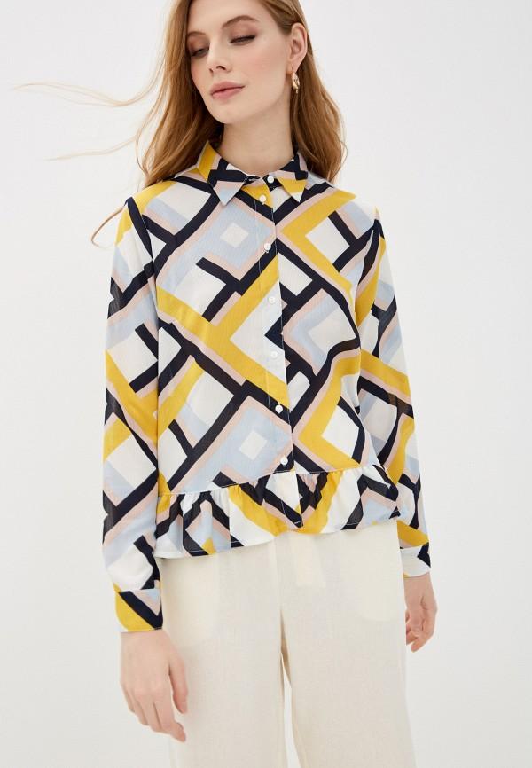 женская блузка с длинным рукавом jacqueline de yong, разноцветная