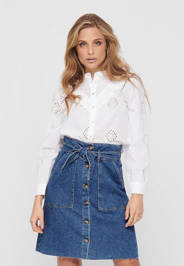 женская блузка с длинным рукавом jacqueline de yong, белая