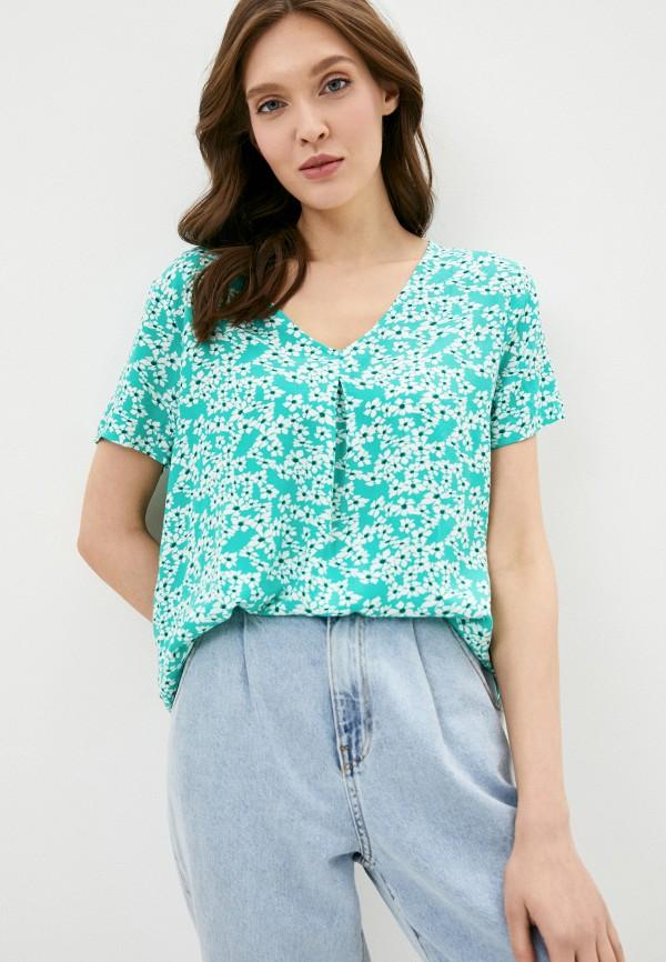 женская блузка jacqueline de yong, бирюзовая