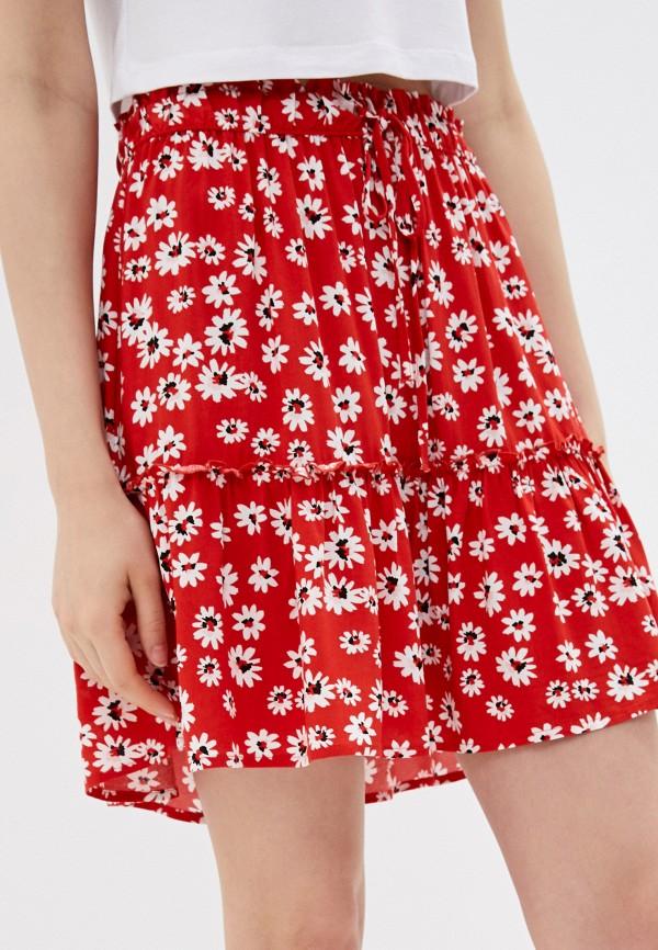 женская юбка jacqueline de yong, красная